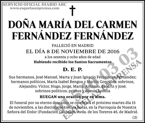 María del Camen Fernández Fernández